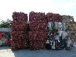 baled waste for recycling